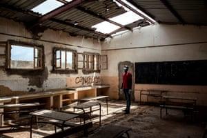 Dilapidated classroom