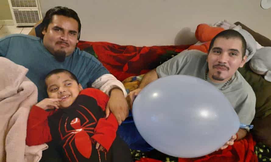 Mario Gonzalez (left) and his family.