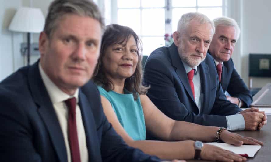 From left: Keir Starmer, Valerie Vaz, Jeremy Corbyn and John McDonnell