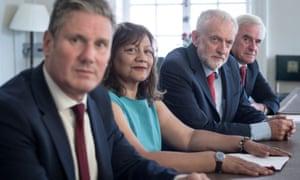 Kier Starmer, Valerie Vaz, Jeremy Corbyn and John McDonnell.