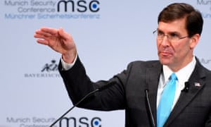 Mark Esper at the Munich security conference.