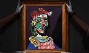 Pablo Picasso's 1937 portrait of Marie-Thérèse Walter, seen at Sotheby's, London