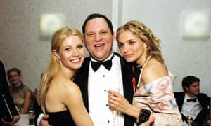Gwyneth Paltrow, Harvey Weinstein and Cameron Diaz at a Golden Globe Party in 1999.
