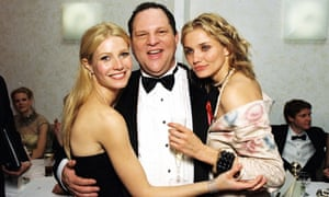 Harvey Weinstein with Gwyneth Paltrow and Cameron Diaz at Miramax Golden Globes party