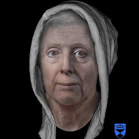 Rekonstruksi digital wajah Lilias Adie, yang meninggal di penjara pada 1704 sebelum dibakar karena 'kejahatannya'.