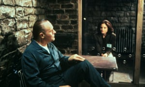 Anthony Hopkins and Jodie Foster in The Silence of the Lambs.