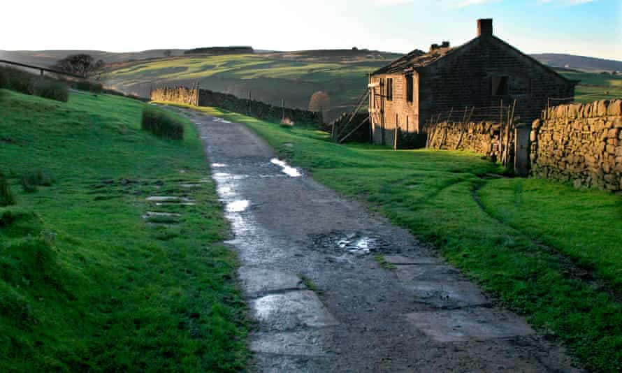 Nothing is what it seems … derelict farmhouse on moorland in Yorkshire.