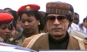 Sarkozy has claimed the charges are part of an act of revenge by the family of Muammar Gaddafi (pictured).