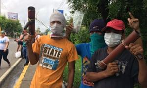 Rebels in Masaya, Nicaragua.