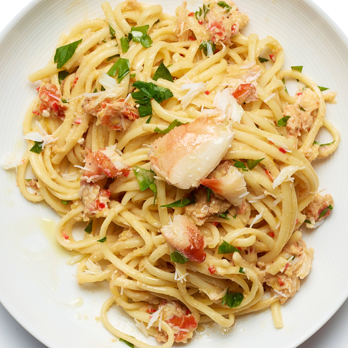 How To Cook Crab Linguine Recipe Seafood The Guardian