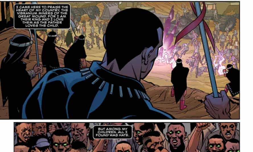 A frame from the first page of Ta-Nehisi Coates's Black Panther