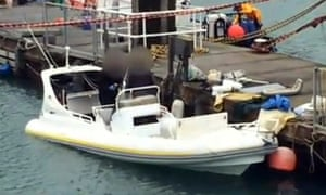 The stricken boat is being inspected at Dymchurch in Kent.