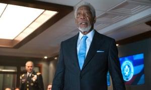 Suits two sir ... Morgan Freeman in action sequel London Has Fallen.