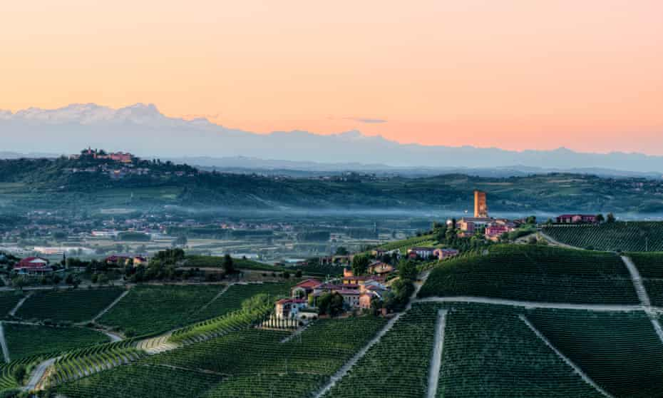 Langhe, Piedmont at dusk