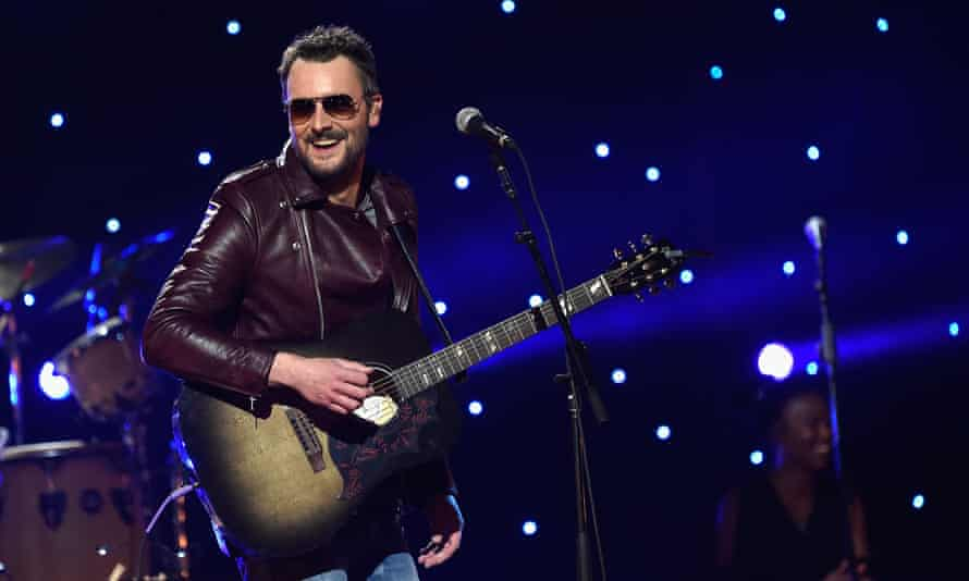 Eric Church performs during the Imagine: John Lennon 75th birthday concert at Madison Square Garden.