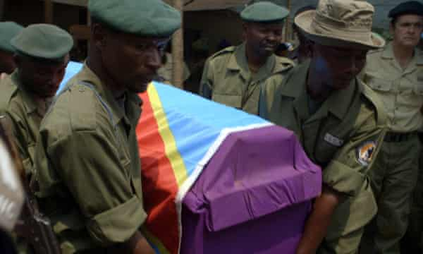Funeral of Ranger Kasereka Kipako
