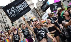 Members of the LGBTQIA activist group London Bi Pandas