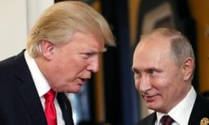 Donald Trump and Vladimir Putin in Vietnam last November.