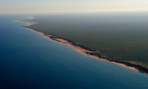 An aerial view of the Kimberley coast.