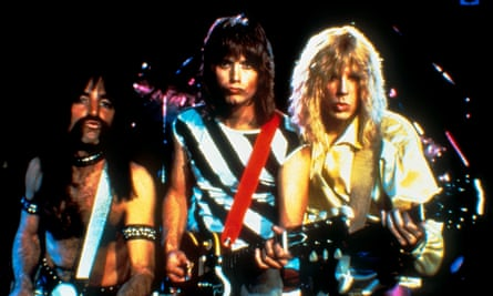 Spinal Tap, from left, Shearer, Christopher Guest and Michael McKean.