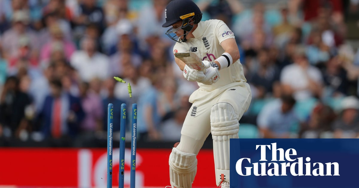 England's Ollie Pope misses chance to add to his average of 101 at the Oval