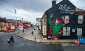 Anfield, England A mural of the Liverpool and England footballer Ray Clemence adorns the gable end of a house. The 72-year-old former goalkeeper died on Sunday