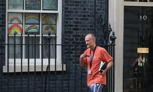 Number 10 special adviser Dominic Cummings leaves Downing Street in London on May 24, 2020.