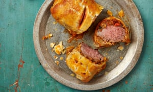 Yotam Ottolenghi's lamb wellington with manchego, almonds and smoked aubergine