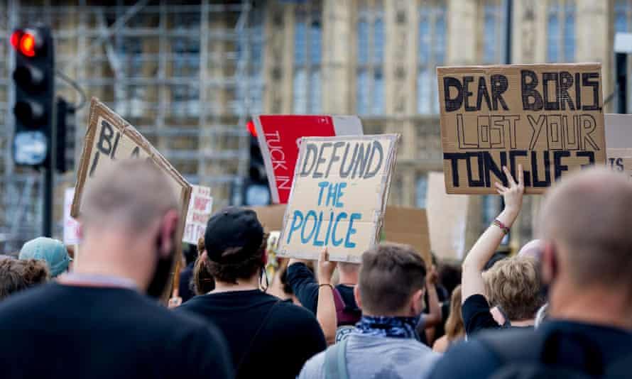 A Black Lives Matter protest inLondon, 21 June 2020