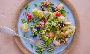 A plate of colourful Russian salad