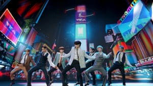 BTS performs during the 2020 MTV VMAs.