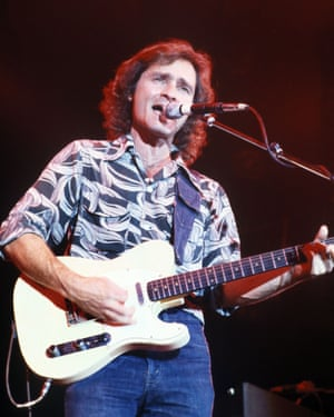 Marty Balin in concert with Jefferson Starship in the Netherlands in the 1970s.