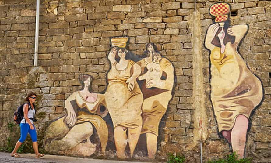 Street art murals in Orgosolo, Sardinia, Italy