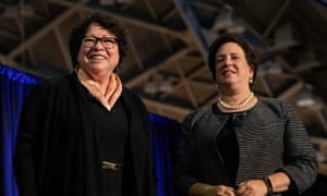 Sonia Sotomayor and Elena Kagan recieve applause during the event at Princeton University.