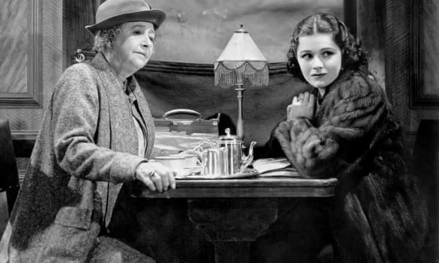 Dame May Whitty, left, and Margaret Lockwood in a scene from The Lady Vanishes.