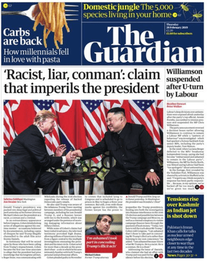 Guardian front page 28/02/2019