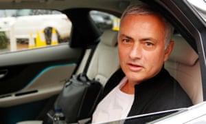 Jose Mourinho in a car