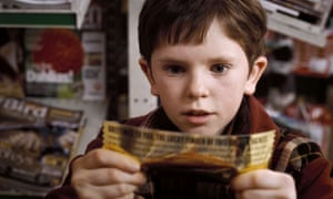 Whitewashed? … Freddie Highmore as Charlie Bucket in the 2005 film version of Charlie and the Chocolate Factory.