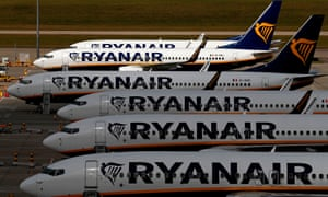 Ryanair aircraft at Stansted