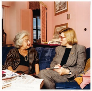 Anne Summers (right), then editor of MS magazine, with Betty Friedan, author of The Feminine Mystique