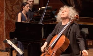 A journey from darkness to light... Cellist Steven Isserlis with Mishka Rushdie Momen at the piano at the Wigmore Hall, June 2020.