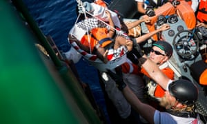 Among the people transferred from the sea watch vessel were three babies, the smallest only four months old. All were traveling with their mothers when the rescue took place in the Mediterranean sea.