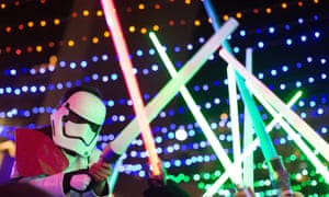 Lightsaber battles at Glow Sword Battle LA