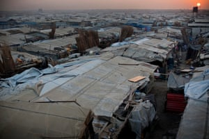 Makeshift shelters spread into the distance in the UN Protection of Civilians (PoC) camp in Malakal, on 7 December 2016