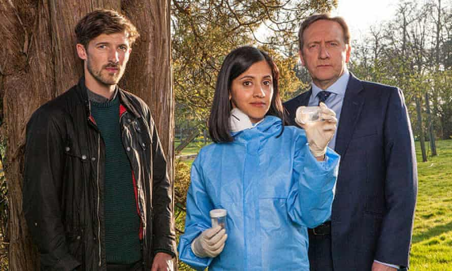 Gwilym Lee as DS Charlie Nelson, Manjinder Virk as Dr Kam Karimore and Neil Dudgeon as DCI John Barnaby.