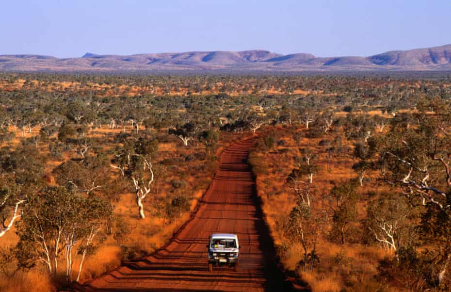 Four-wheel-drive on an outback road