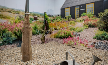 Shingle life ... how Prospect Cottage in Dungeness, Kent, has been recreated at the Garden Museum in London.