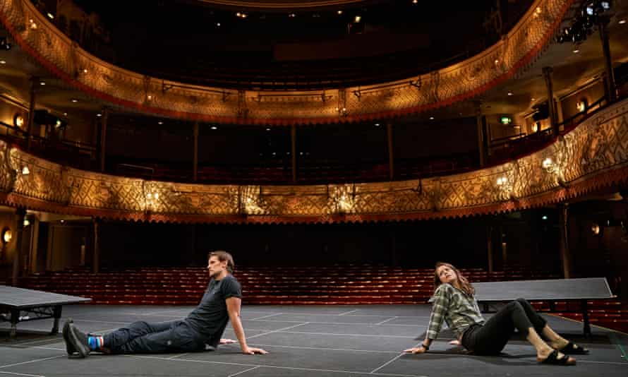Matt Smith and Claire Foy in a dress rehearsal for Lungs: In Camera at the Old Vic.