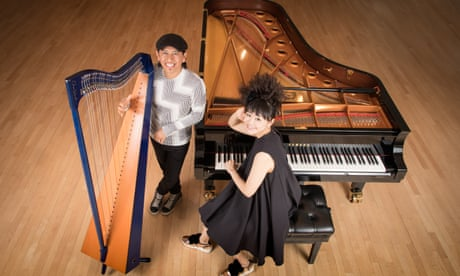 Hiromi and Edmar Castañeda: Live in Montreal review – impish pianist and harp player bring the noise