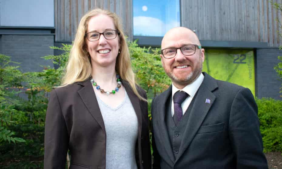 The Scottish Green party co-leaders, Lorna Slater and Patrick Harvie
